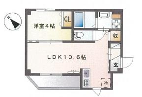 101号室(35.49㎡)14.2000円